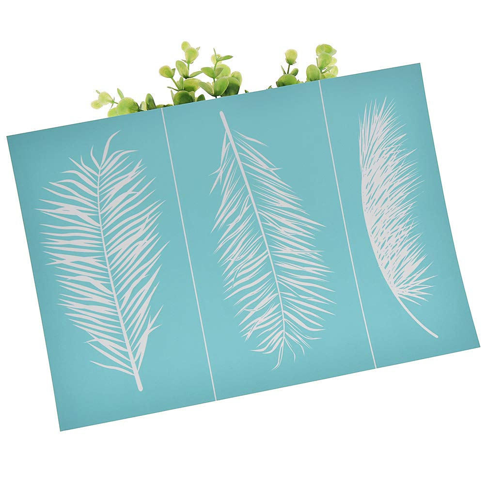 and Home Decoration CHZIMADE Plants Theme Self-Adhesive Silk Screen Stencil Printing Mesh Transfers for Bag Paper T-Shirts