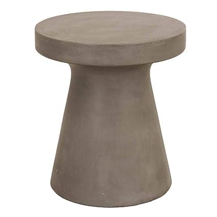 Amazon.com: Benzara BM185264 - Mesa de hormigón con forma de ...