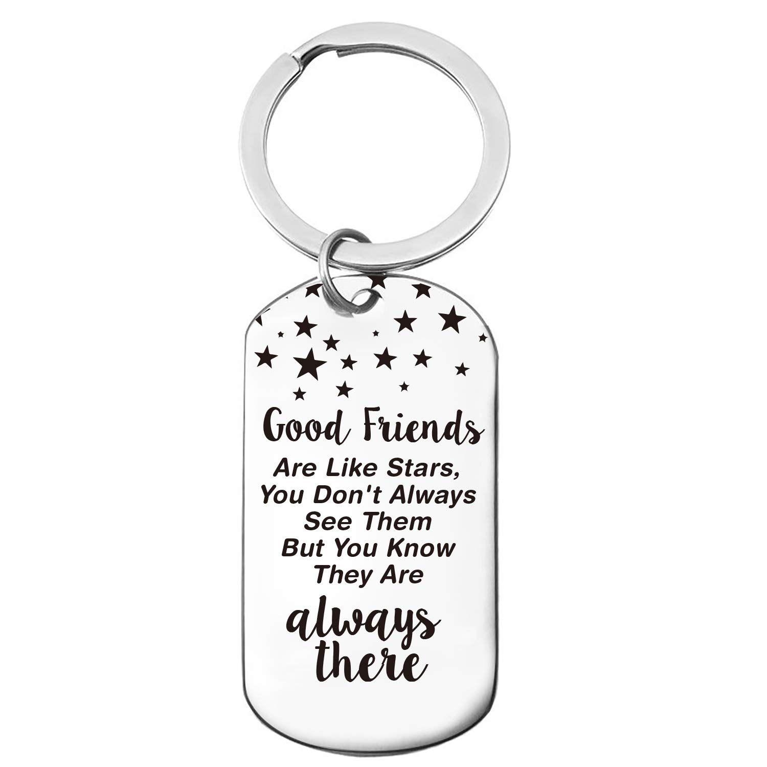 Inspirational Motivational Friendship Quotes Stainless Steel Key Chain  Ring, Best Friends Keychain Gift, Friendship Gift for Friends