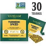 姜黄茶 - 30包锥形茶包,***天然 - 印度配方 - 印度传统的超级食物,即姜黄粉与新鲜香料的混合(2盒装,每盒15个茶包)