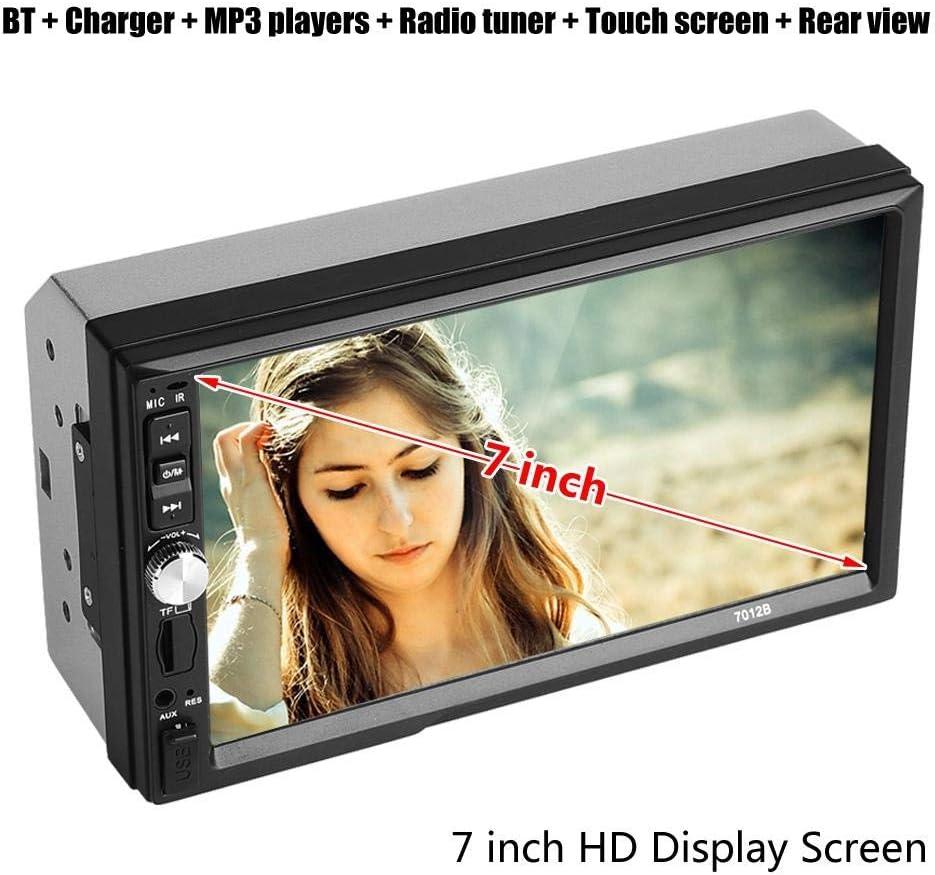 Elerose Car radio player 7-inch car stereo radio Bluetooth audio receiver HD touch screen video player Reversing display