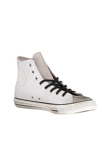 29884815e395 CONVERSE Chuck Taylor All Star Distressed Hi sneakers alte camoscio lacci  PELLE PALE PUTTY GRIGIO 158965C inverno 2018  Amazon.it  Scarpe e borse