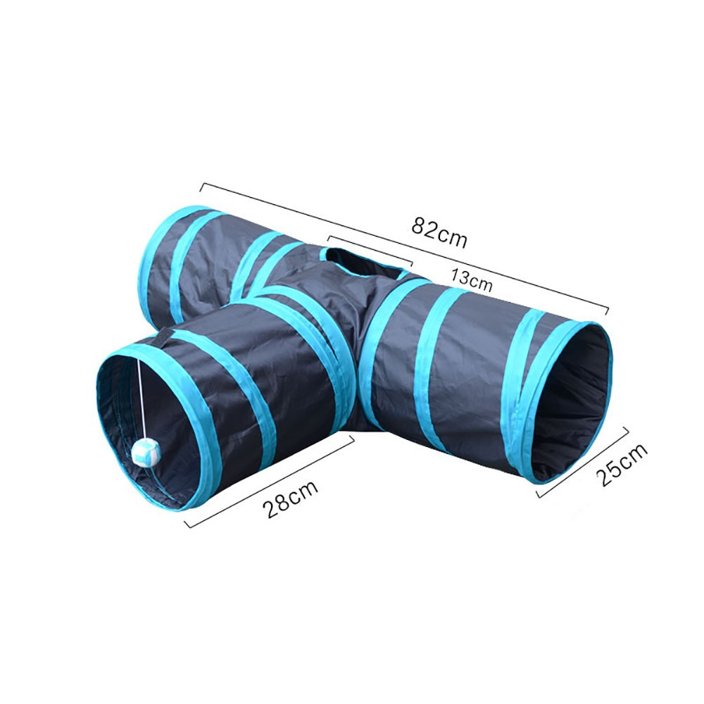 Pevor Collapsible 3-Way Cat Tunnel Toys - Indoor & Outdoor Pet Cats Training Toy, House Toys Bed For Kitten, Rabbit, Puppy