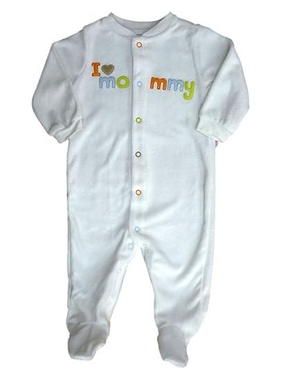 4f0514aa4711 Amazon.com  Carter s Infant Girls I Love Mommy White Blanket Sleeper ...