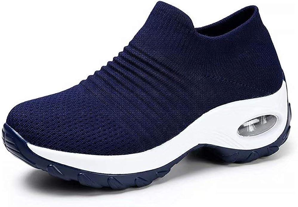 Zapatos Deporte Mujer Zapatillas Deportivas Correr Gimnasio Casual Zapatos para Caminar Mesh Running Transpirable Aumentar Más Altos Sneakers Negro Gris Morado Rojo 35-44: Amazon.es: Zapatos y complementos