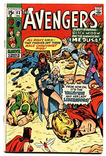 The Avengers #83 1970- 1st Valkyrie - Marvel Bronze FN+