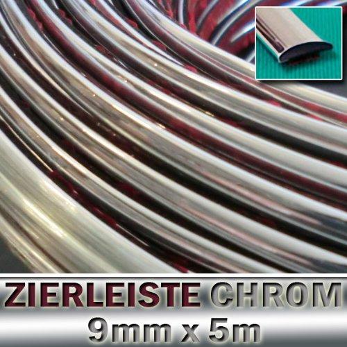 9mm x 5 METER ZIERLEISTE Chrom selbstklebend Universal AUTO TUNING