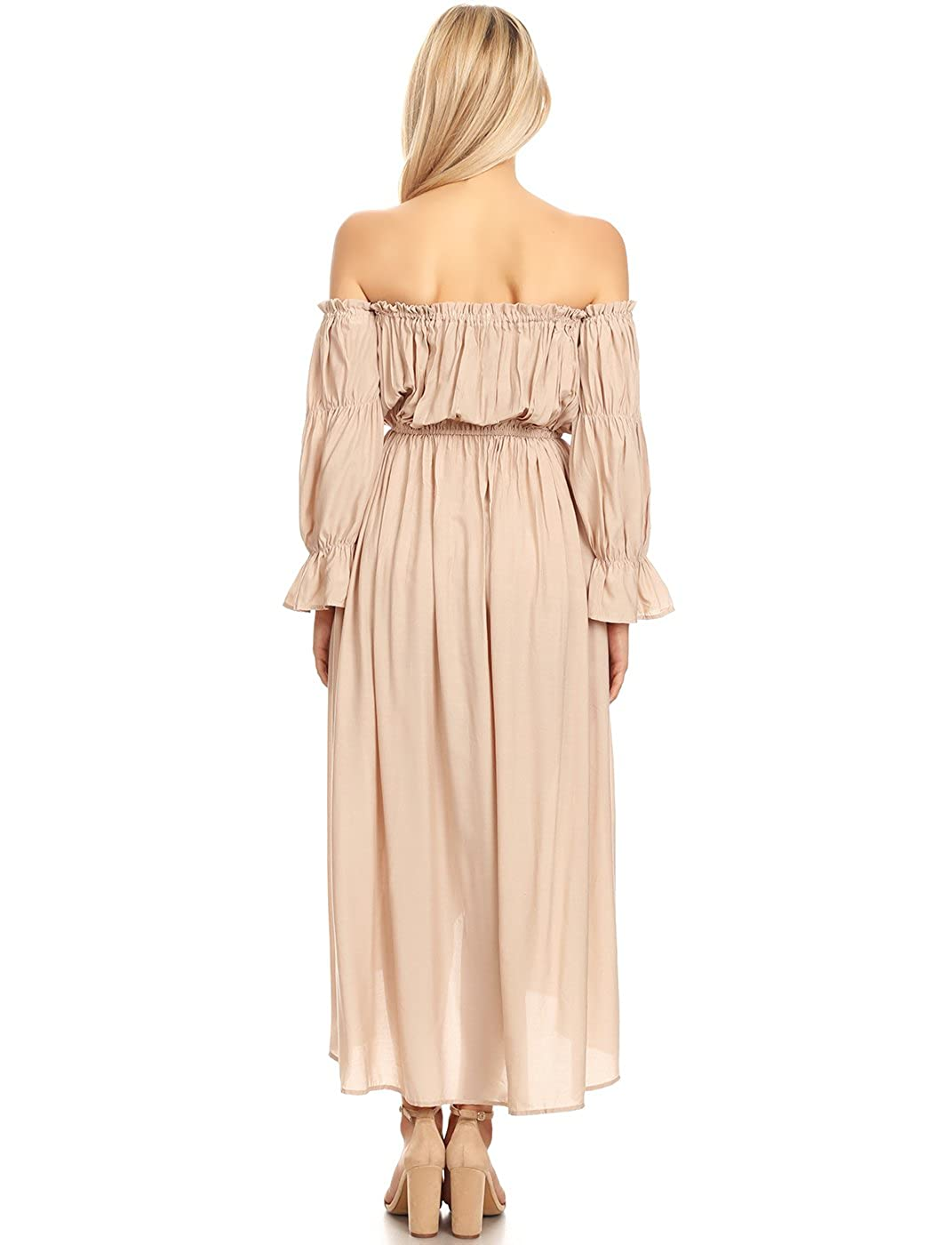 Amazon.com: Anna-Kaci vestido de campesino de manga larga ...