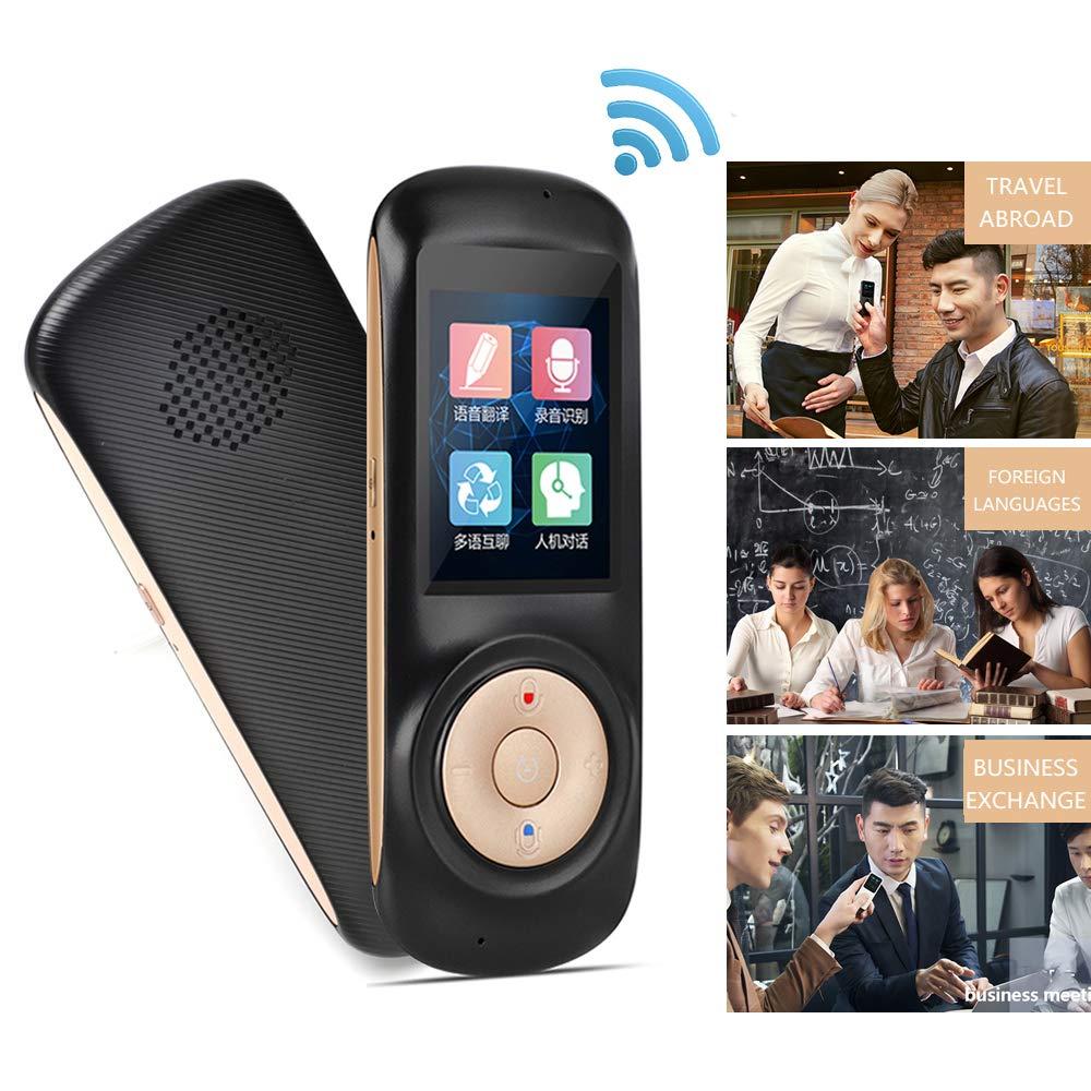 驚きの値段で スマートボイストランスレーター ブラック 2ウェイ B07H67FQ1P WiFi 2.4インチタッチスクリーンサポート 多言語対応 トランスレーション ポータブル ポータブル ハンドヘルド ブラック ブラック B07H67FQ1P, 生地手芸のユザワヤ3号館-卸販売:3cd5e57a --- svecha37.ru