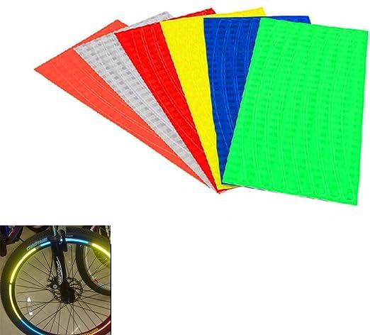 TENGGO Llantas De Bicicleta Ruedas Pegatinas Reflectantes Luminoso: Amazon.es: Hogar