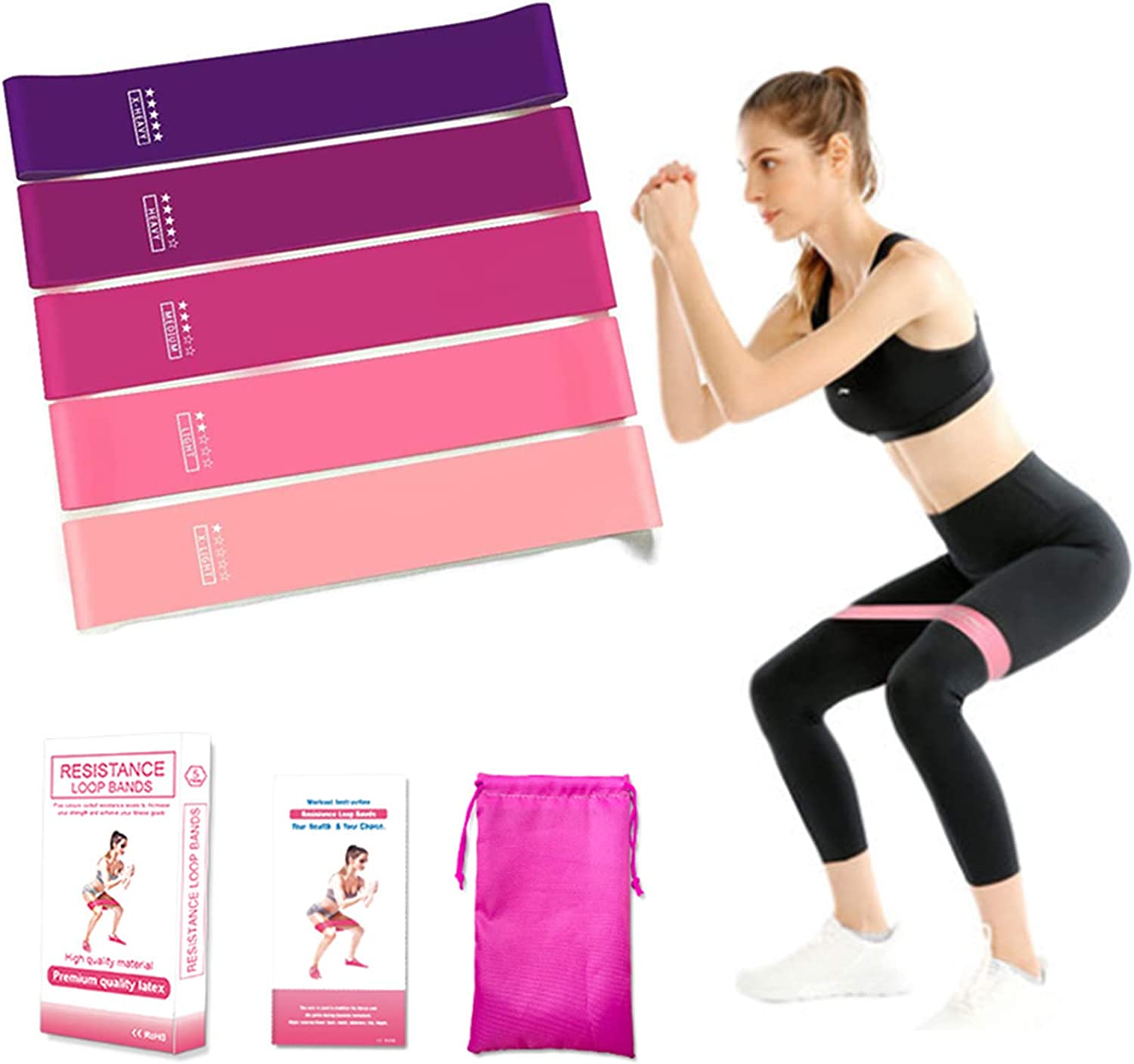 5X Strong Loop Resistance Bands Heavy Duty Exercise Sport Latex Fitness Gym Yoga