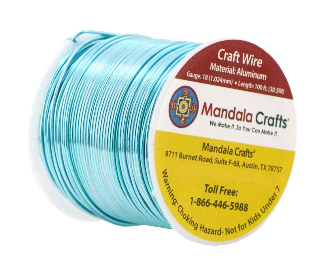 Gem Metal Wrap Mandala Crafts Anodized Aluminum Wire for Sculpting Armature Colored and Soft Garden 1 Roll Jewelry Making 14 Gauge, Silver
