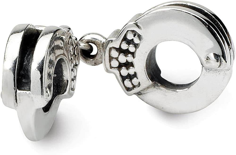 Sterling Silver Reflections Handcuffs Bead Solid 3.64 mm 25.45 mm Themed Beads Jewelry