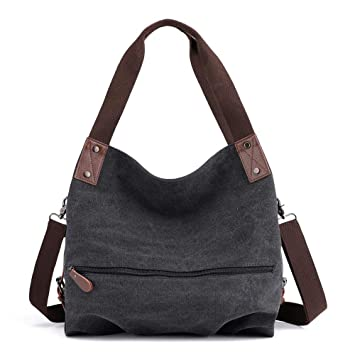 20b857759ef3 Amazon.com: Shoulder Bag Women JIUDASG Canvas Handbag Small Vintage ...