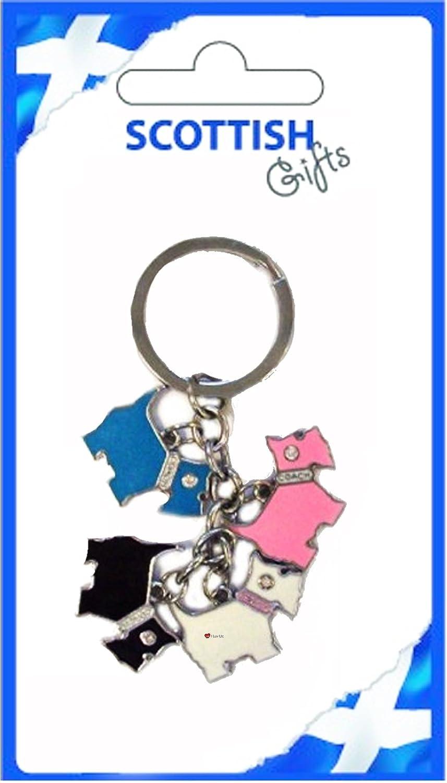 激安先着 Scottish Multi Scottie Dog And Keyring Black Pink Blue Blue White And Black B007OBKAAI, 王様のカーテン:03cf632f --- yelica.com