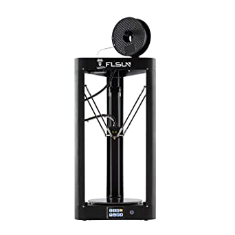 FLSUN QQ-S 90% Pre-Assembled Delta 3D Printer Lattice galss Platform Large Printing Size φ255X360mm, Auto Leveling,Titan Extruder,Touch Screen,WiFi ...