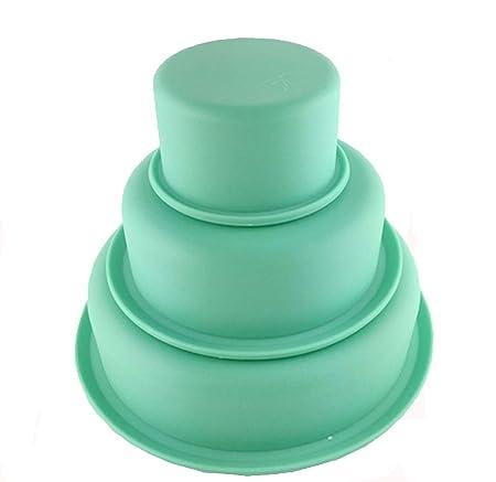 Fanaticism FlexiForm Tortenformen 3-er Set, 7, 14 und 19 cm Silikon, grün