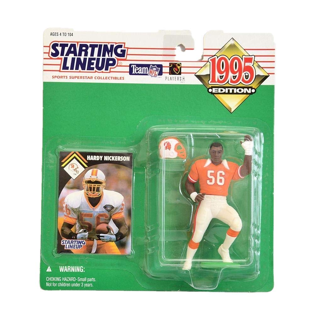 Starting Lineup Hardy Nickerson Figure with Trading Card 1995 NFL Football Tampa Bay Buccaneers