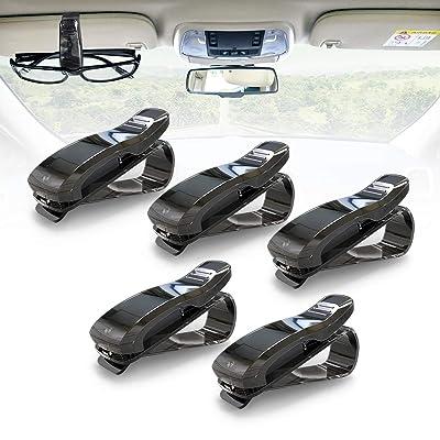 KAFEEK Car Visor Glasses Sunglasses Ticket Clip Holder (Black): Automotive