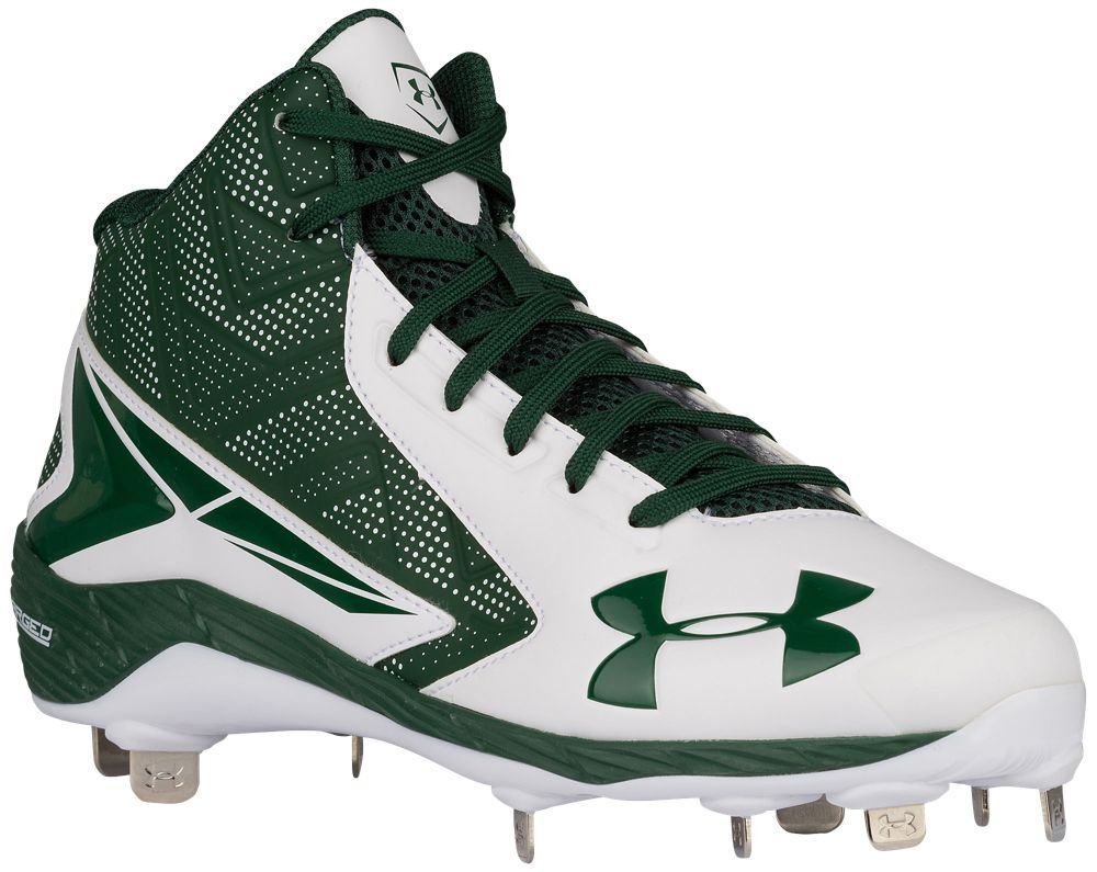 [アンダーアーマー] Under Armour Yard Mid ST メンズ ベースボール [並行輸入品] B072FH7RLH US15.0|White/Forest Green White/Forest Green US15.0
