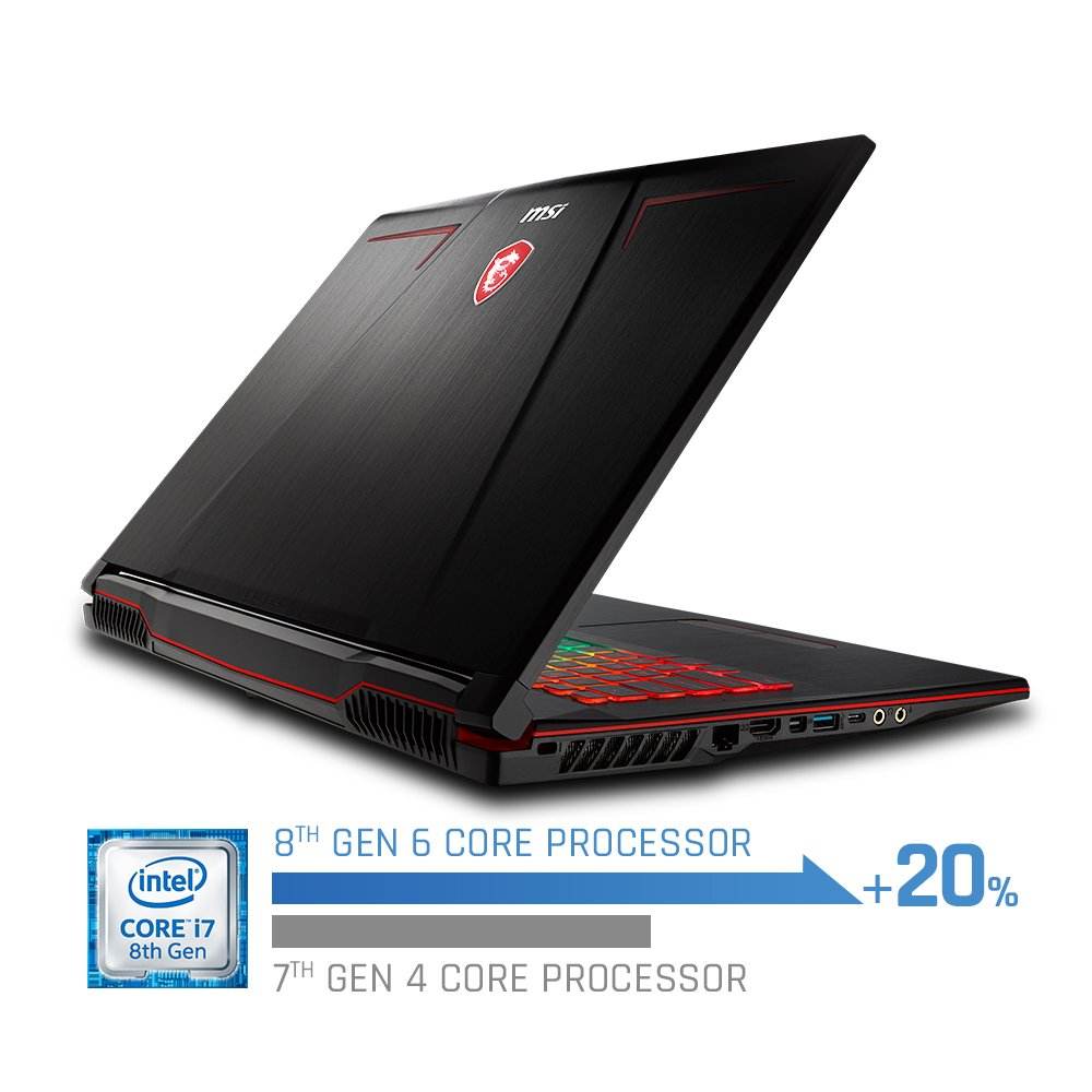MSI GP73 Leopard-615 Performance Gaming Laptop Windows 10 Home, Intel Core i7-8750h 2.2 – 4.1GH Processor, 17.3 FHD 19201080 120 Hz 3ms Display, 256GB SSD 1TB HDD, RAM 16 GB DDR4 Black