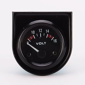 Universal Voltmeter Für Auto 8 16 V 52 Mm In Schwarz Auto