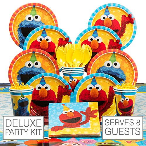 Sesame Street Deluxe Tableware Kit (Serves 8) for sale  Delivered anywhere in USA