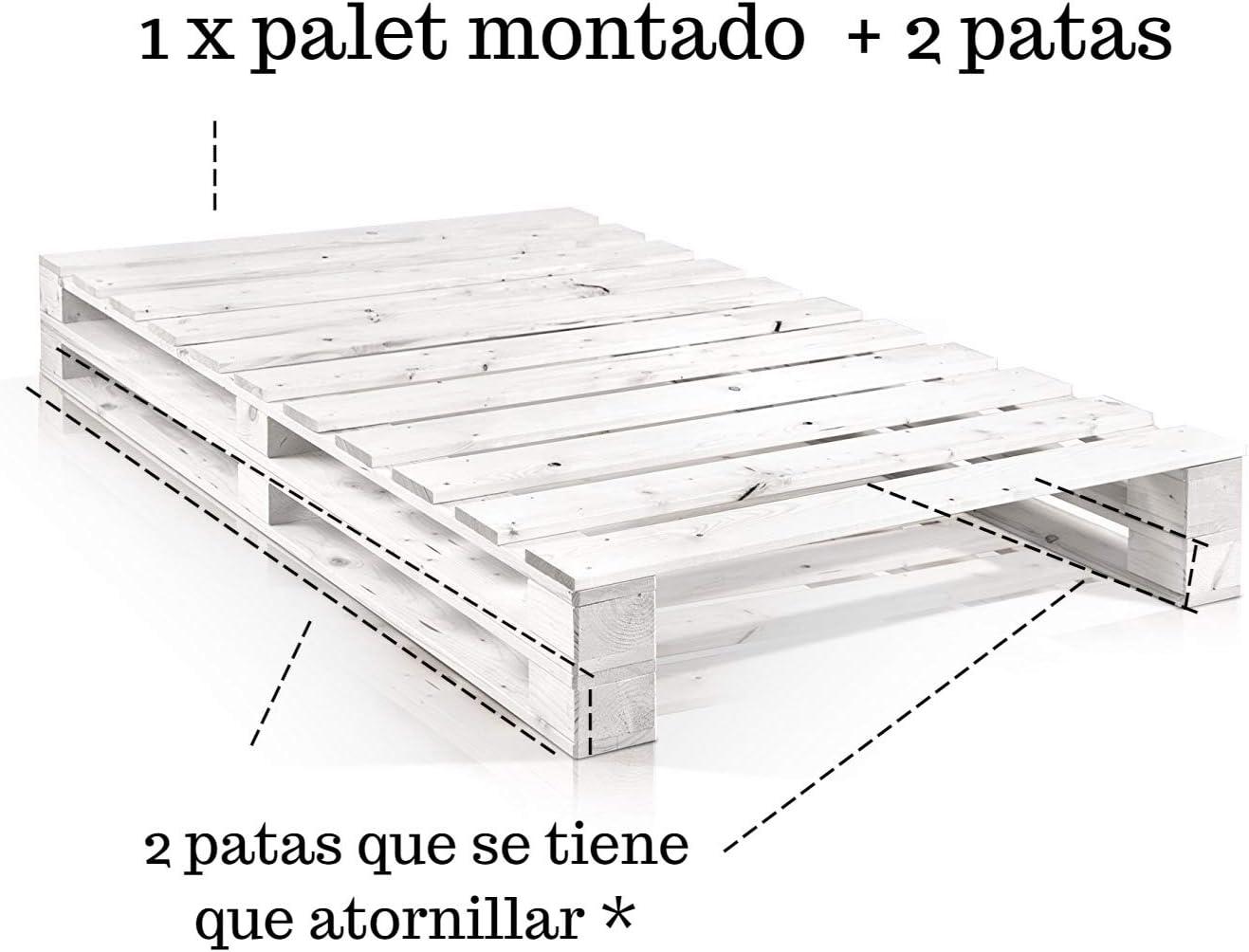 Dydaya Cama de Palets de 90 x 180 x 30 Color Madera & Somier & Somieres & Base & Bases & Estructura & Estructuras
