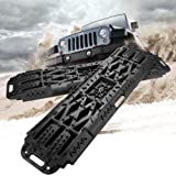 BUNKER INDUST Off-Road Traction Boards with Jack Lift Base, 2 Pcs Recovery Tracks Traction Mat for 4X4 Jeep Mud, Sand, Snow T