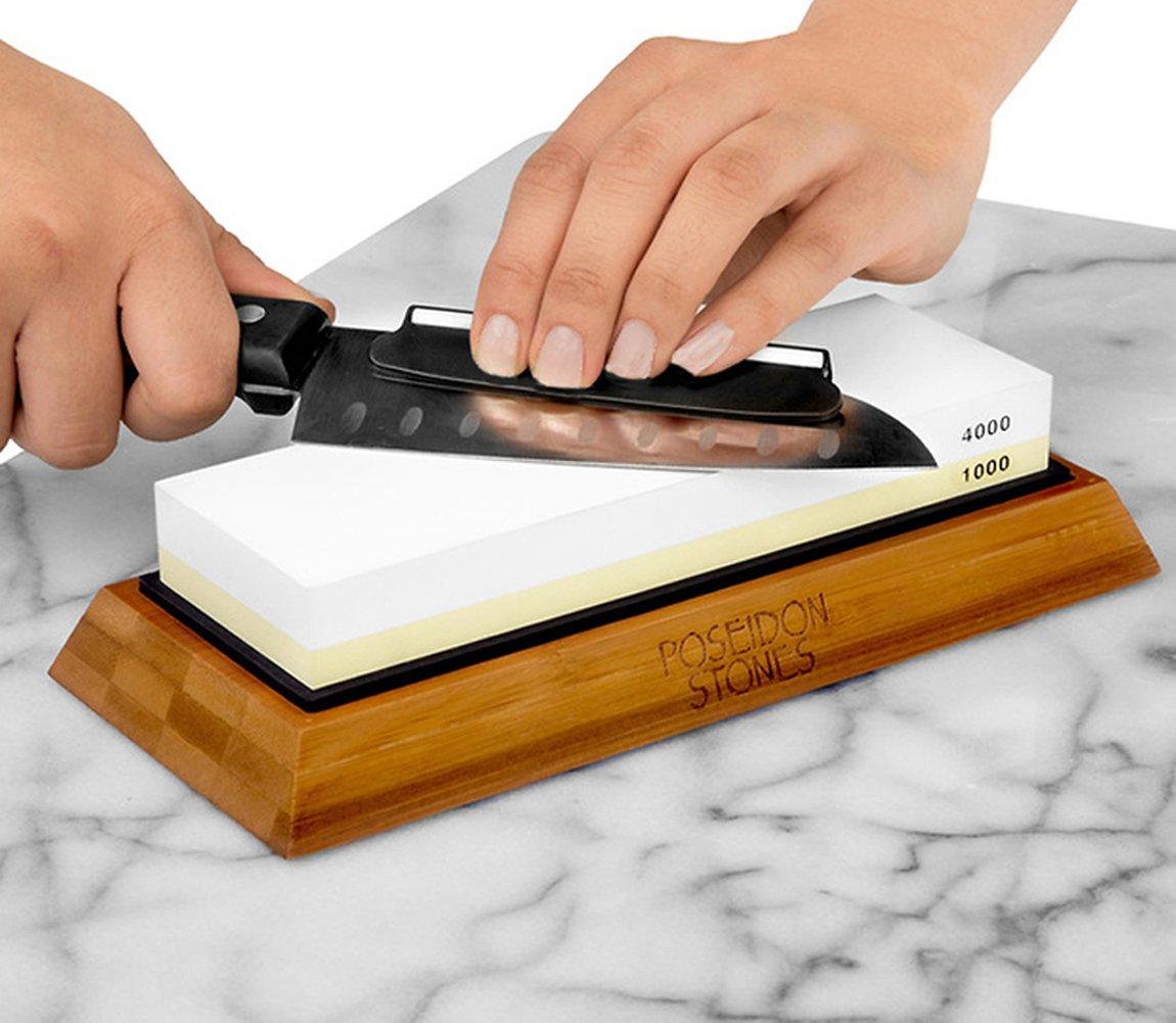 amazon com sharpening stone set premium two sided 1000 4000