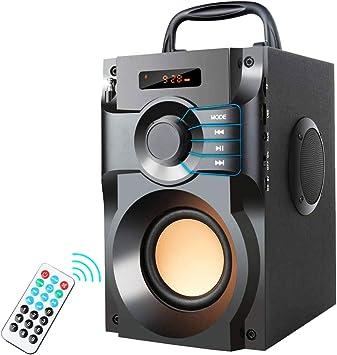 XMAGG® Altavoz Inalámbrico Bluetooth Estéreo Subwoofer Altavoces Bajos Columna Caja de Sonido Soporte FM Radio TF AUX USB Control Remoto: Amazon.es: Electrónica
