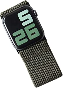 Tefeca Ultra Wide Patterned Elastic Compatible/Replacement Band for Apple Watch (Army Green, XXL fits Wrist Size : 8.0-9.0 inch, 42/44mm)
