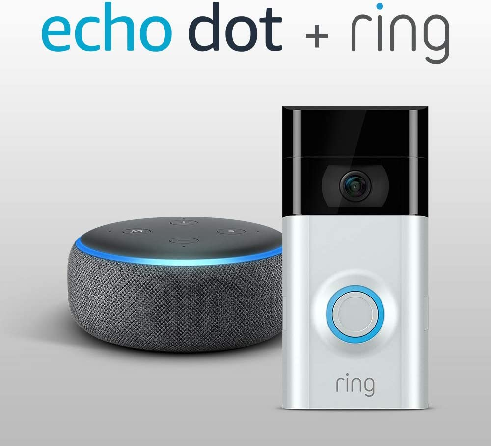 Charcoal NEW Ring Video Doorbell Pro with Echo Dot 3rd Gen