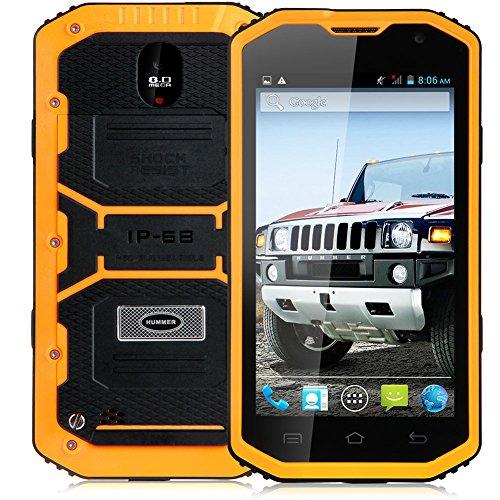 "Padgene 5"" Android 4.4.2 Unlocked Smartphone, Hard Shockproof/Dustproof/Watertherproof Full-body Protection, Dual Core/Sim/Camera, 2G / 3G GSM Smartphone, Gold"