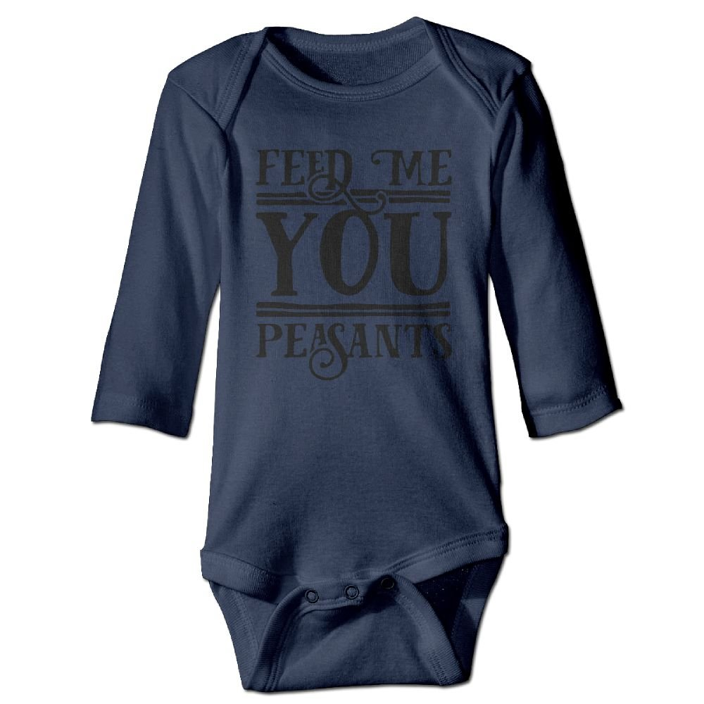 Midbeauty Time To Feed Me Newborn Cotton Jumpsuit Romper Bodysuit Onesies Infant Boy Girl Clothes