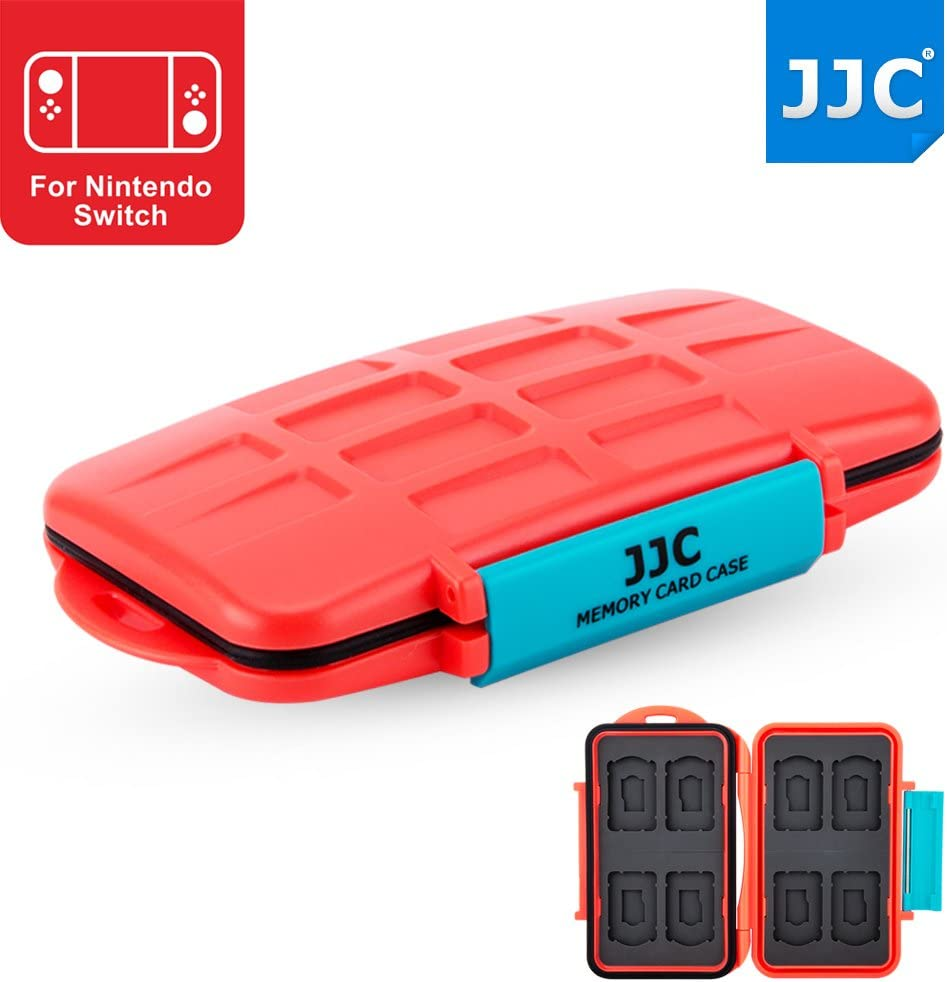 JJC Nintendo Switch Game Card Case vídeo juego for 8 x Nintendo Switch Game Cards & 8 x Micro SD Cards / Orange: Amazon.es: Electrónica