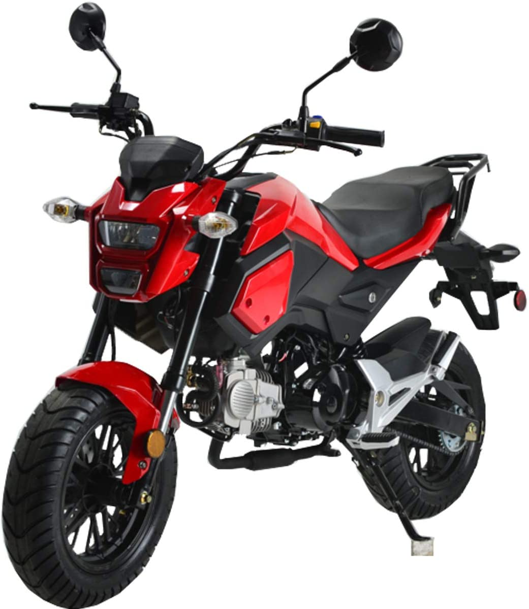 X-PRO 125cc Vader Adult Motorcycle Gas Motorcycle Dirt Motorcycle Street Bike Motorcycle Bike-Red