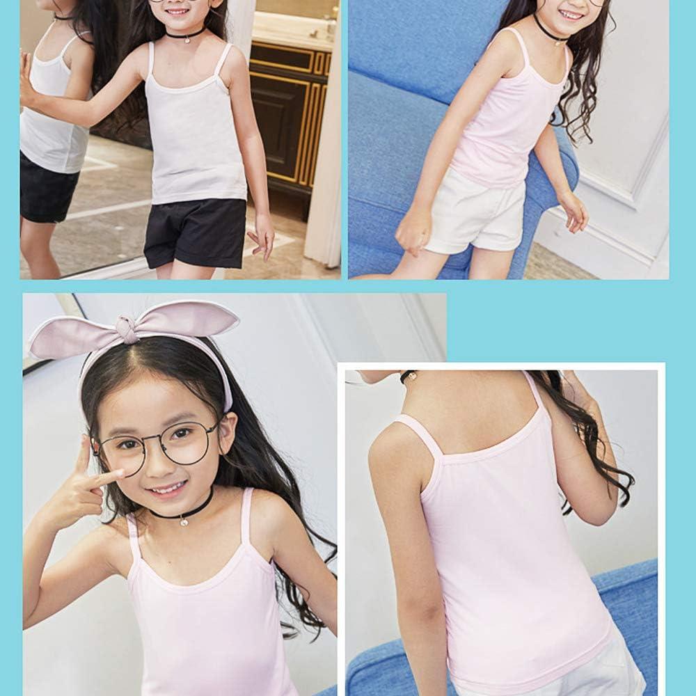 Anntry 2-8 Anni Little Girls Tinta Unita Canottiere Morbido 4 Pezzi Confortevole Canottiere Traspiranti per Bambini