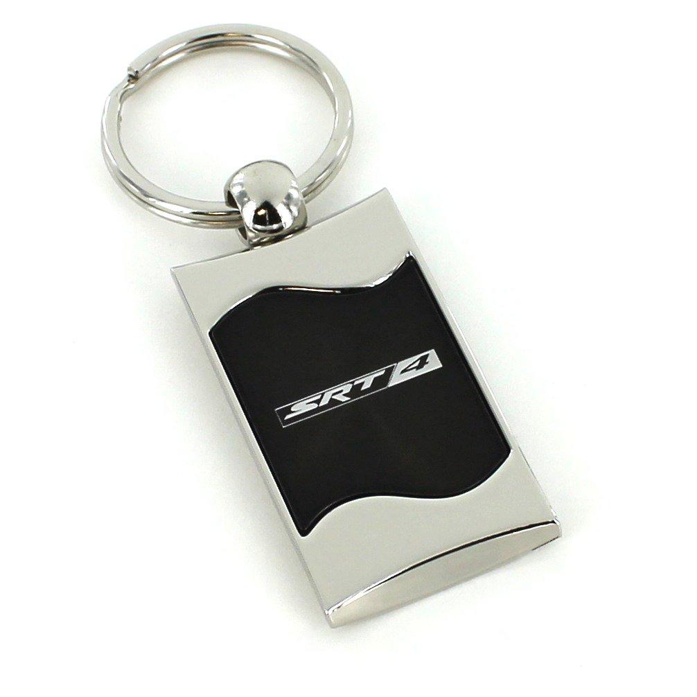 Dodge SRT-4 Black Spun Brushed Metal Key Ring