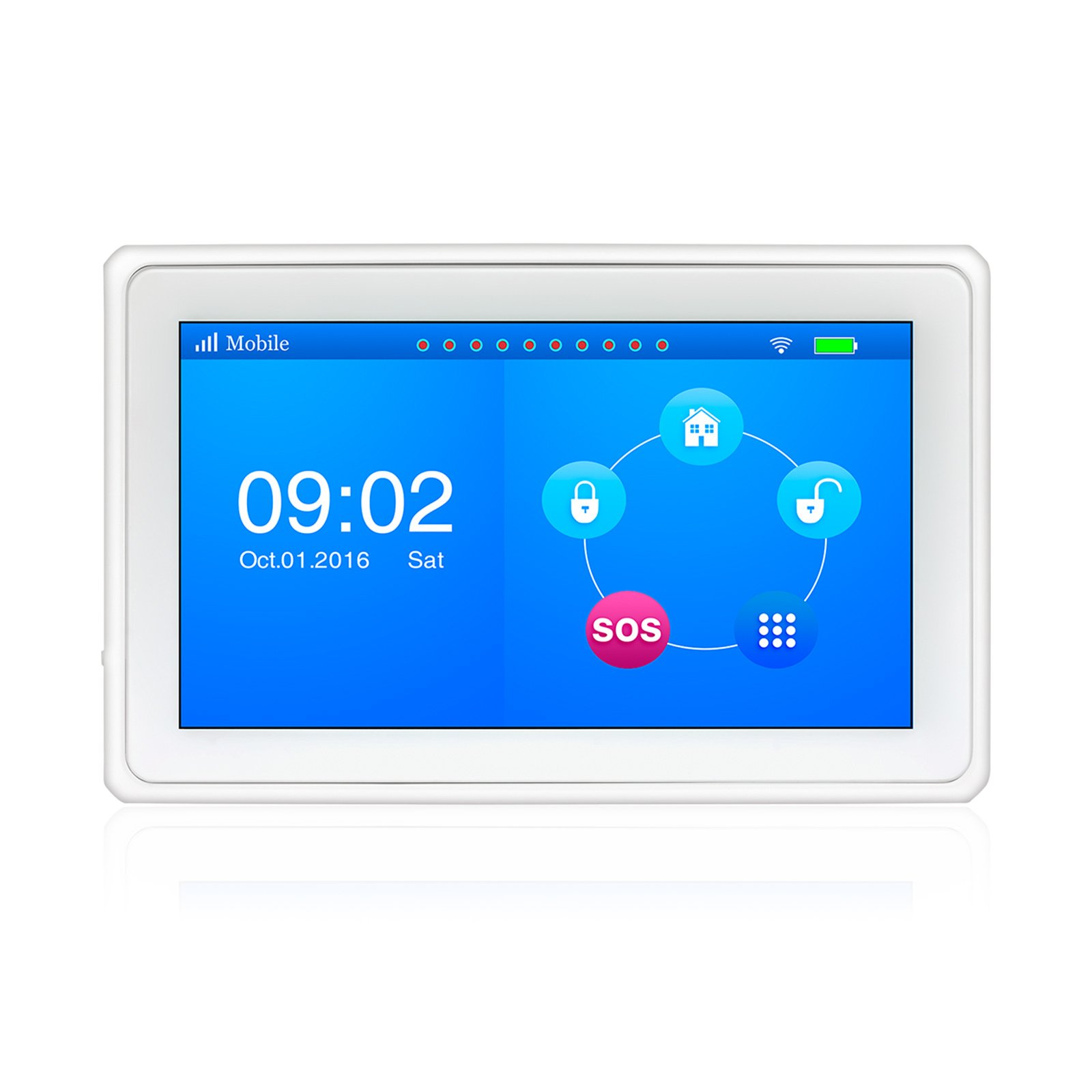 Kerui K7 Wireless 2.4G WIFI/GSM 7 Inch Color Display Touch Pad Home/House Burglar Intruder Alarm System DIY Kit Support IOS/Android APP Control Auto Dial Complete Home and Business Security