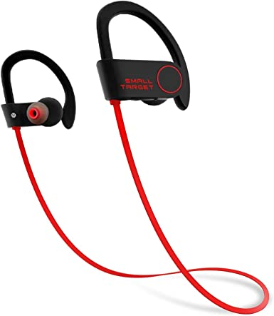 Amazon Com Bluetooth Headphones Small Target Best Wireless Sports Earphones With Mic Ipx7 Waterproof Stable Fit In Ear Earbuds Noise Isolating Stereo Headset 9 Hour Woriking Time For Running Workout Gym