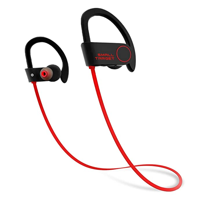 4e937dfe6ea Bluetooth Headphones,Small Target Best Wireless Sports Earphones with Mic IPX7  Waterproof Stable Fit in