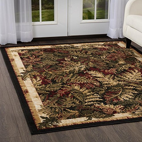 Home Dynamix Keep Up with Your Budget | Optimum Kawan Area Rug Botanic Pattern | Suitable for Any Space | Easy to Clean