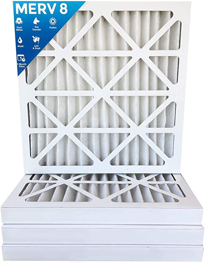 Nordic Pure 21/_1//2x23/_1//4x1 Exact MERV 8 Pure Carbon Pleated Odor Reduction AC Furnace Air Filters 4 Pack