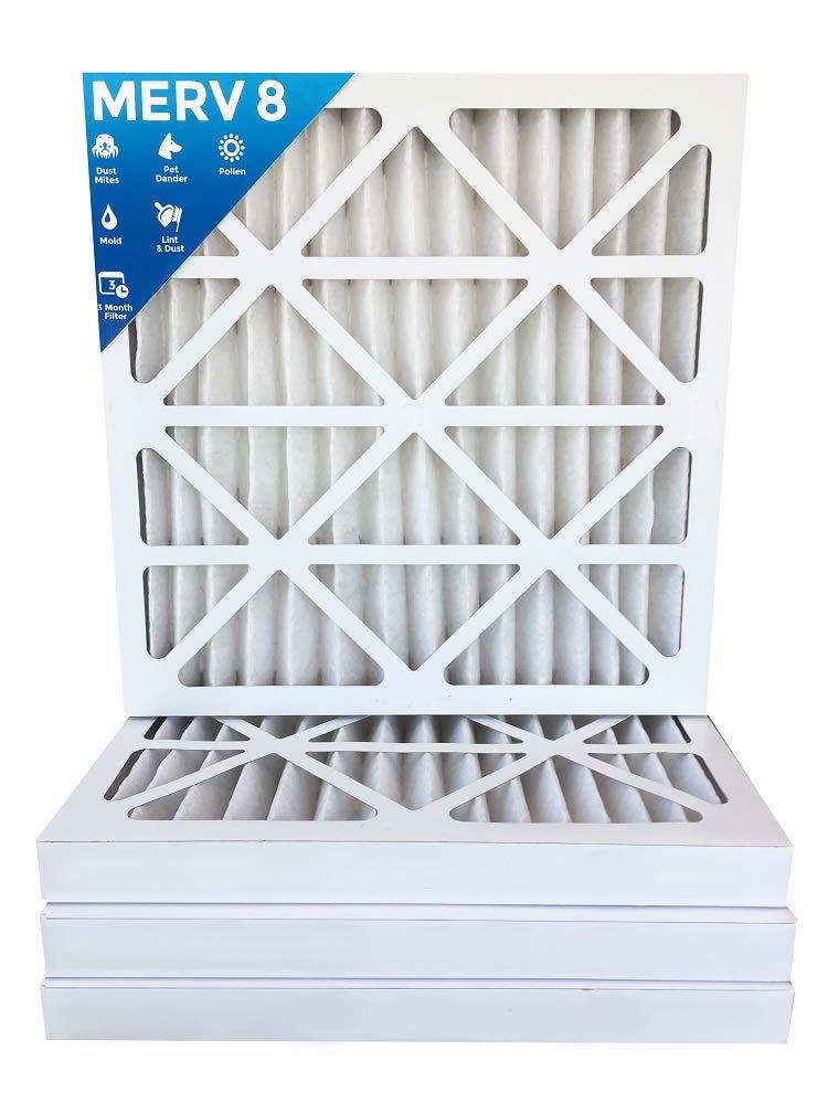 20x25x2 MERV 8 AC Furnace 2'' Inch Air Filter - 10 PACK