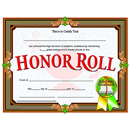 Flipside Products CERTIFICATES HONOR ROLL 30/PK (Set of 6)