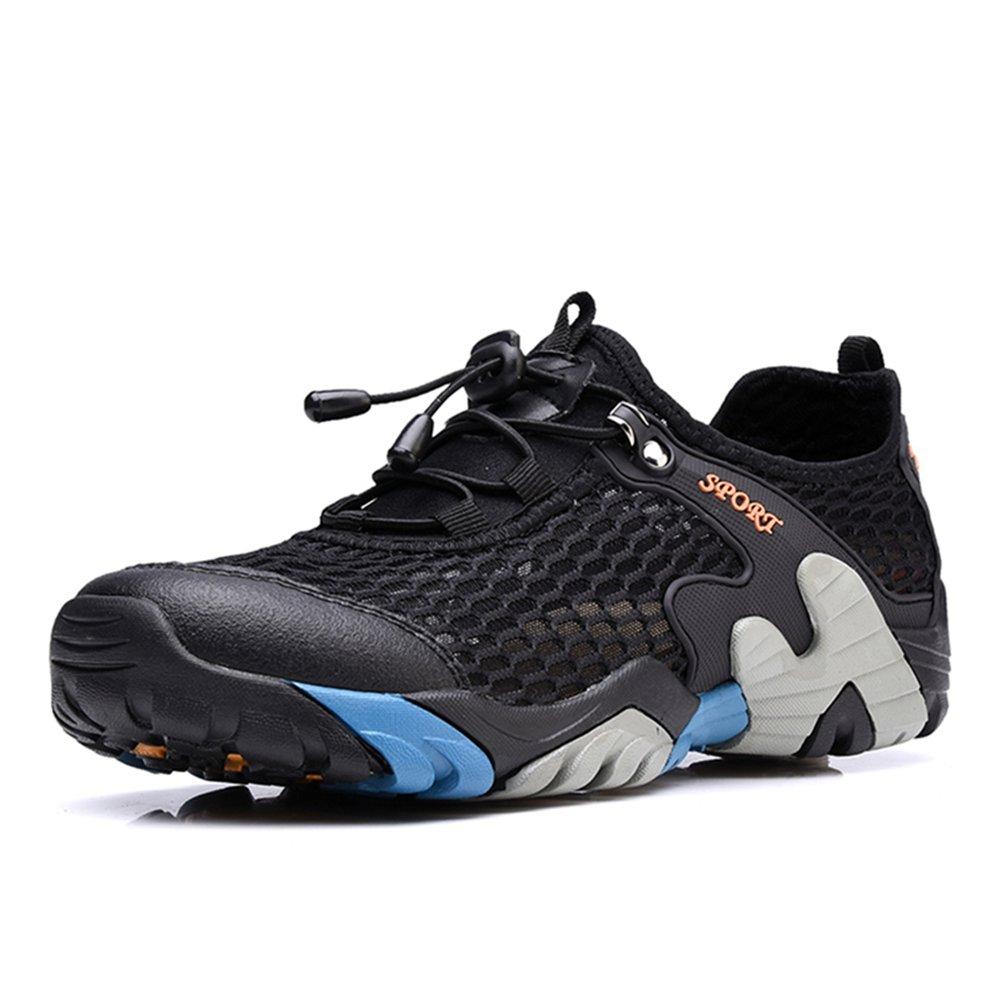 CraneLin Outdoor Hiking Shoes Walking Sneaker Boating Water & Trail Shoes for Men Women CRHW2031-Black-46 by CraneLin