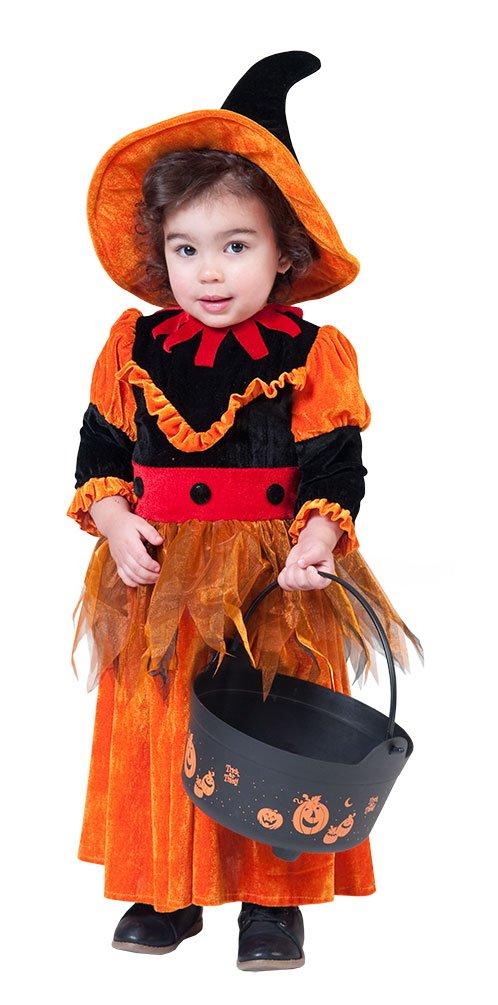 Karneval-Klamotten Hexenkostüm Baby Kostüm Hexe Klein-Kinder Baby-Kostüm mit Hexenhut Größe 92 70001-ESPA