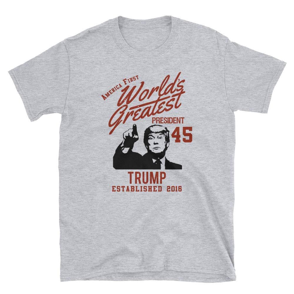 Rearguard Designs Trump Worlds Greatest President Vintage Look Short-Sleeve Unisex T-Shirt