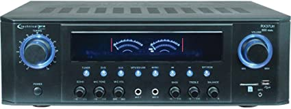 Technical Pro 1000-Watt Professional Receiver with USB /& SD Card Inputs in Black